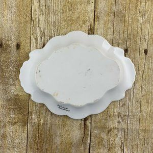 None Accents - Catch All Dresser Tray Dish Flowers Butterfly
